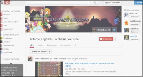 Actus YouTube Triforce Legend