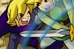 Combat entre Link