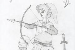 Link tire à l'arc