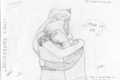 Link et Marine se prenant dans les bras