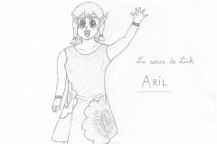 Arielle la soeur de Link en version manga