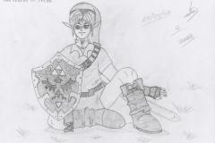 Link prend l'air sur l'herbe fraîche