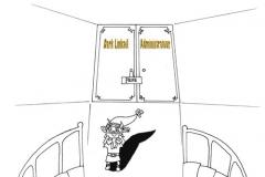 Devant la porte de chambre de Dark Linkaël