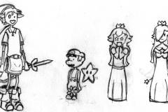 ALink, Mario, Peach et Harmonie