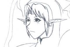 Visage de Link (sans couleurs)