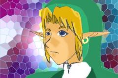 Visage de Link (avec couleurs)