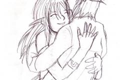 Link et Lanna souriant (sans couleurs)