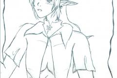 Le héros Link (sans couleurs)