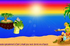 Link et Kasuto sur la Plage de la Grande Baie