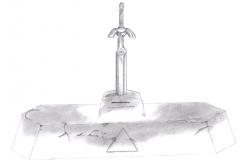 Excalibur et son piédestal