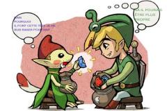 Link et un Minish mal rasé