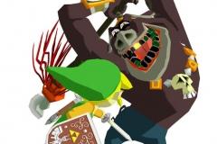 Link contre un Molblin